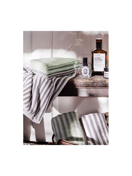 Set 3 asciugamani reversibili Viola, Verde menta, bianco crema, Set in varie misure