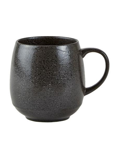 Tassen Heban aus Steingut in Anthrazit, 6 Stück, Steingut, Anthrazit, Ø 8 x H 10 cm