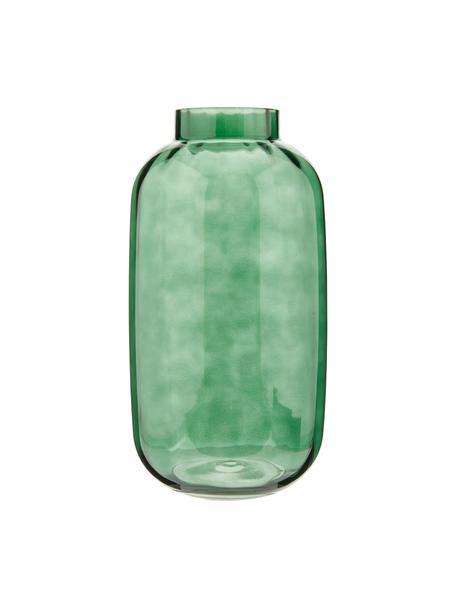 Grote mondgeblazen glazen vaas Stina, Glas, Lichtgroen, licht transparant, Ø 16 x H 32 cm
