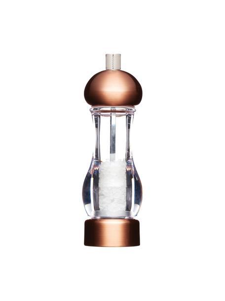 Molinillo de sal Master, Estructura: acrílico, cobre cepillado, Grinder: cerámica, acero al carbon, Cobre cepillado, Ø 6 x Al 19cm
