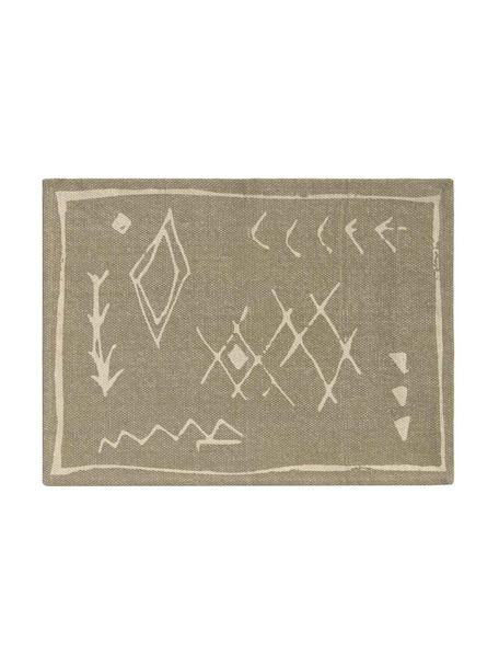 Boho katoenen placemat Kasba, 100% katoen, Beige, crèmekleurig, 40 x 55 cm