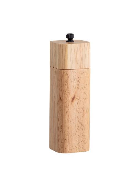 Młynek z drewna Mill, Drewno kauczukowe, stal szlachetna, Beżowy, Ø 5 x W 15 cm