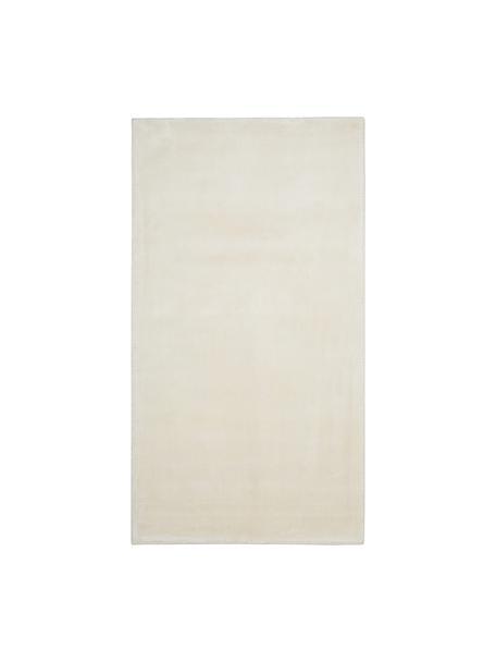 Miękki dywan z wiskozy premium i połyskiem Grace, Kremowobiały, S 80 x D 150 cm (Rozmiar XS)