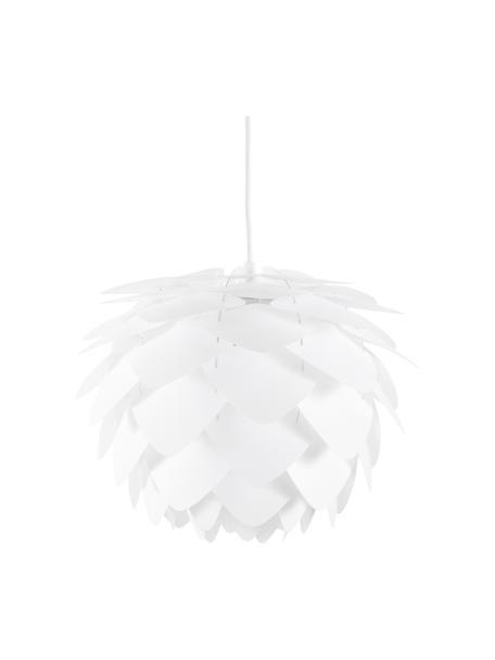 Lampada a sospensione Silvia, Paralume: polipropilene, Baldacchino: materiale sintetico, Bianco, Ø 32 x Alt. 25 cm