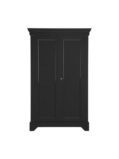 Kast Isabel van grenenhout, Frame: gelakt en gelakt grenenho, Zwart, 118 x 191 cm