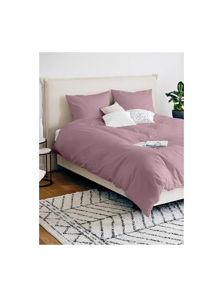 Pościel z satyny bawełnianej Comfort, Mauve, 135 x 200 cm + 1 poduszka 80 x 80 cm
