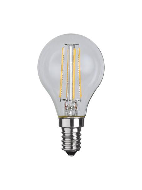 E14 peertje, 4 watt, warmwit, 1 stuk, Peertje: glas, Fitting: aluminium, Transparant, Ø 5 x H 8 cm