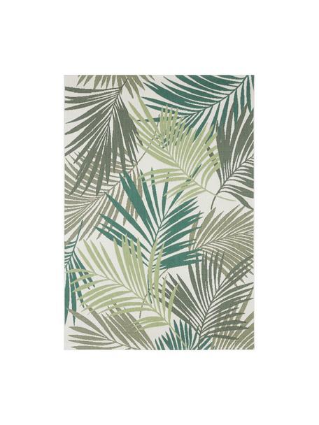 Tappeto da interno-esterno con motivo a foglia Vai, 100% polipropilene, Verde, beige, Larg.160 x Lung. 230 cm (taglia M)