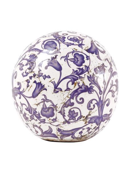 Oggetto decorativo in ceramica Cerino, Ceramica, Blu, bianco, Ø 13 x Alt. 13 cm