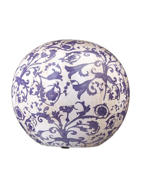 Pieza decorativa de cerámica Cerino, Cerámica, Azul, blanco, Ø 13 x Al 13 cm