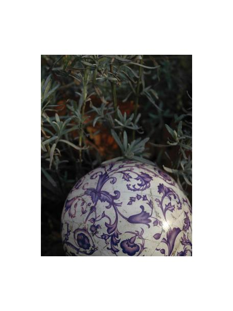 Deko-Objekt Cerino aus Keramik, Keramik, Lila, Weiß, Ø 13 x H 13 cm