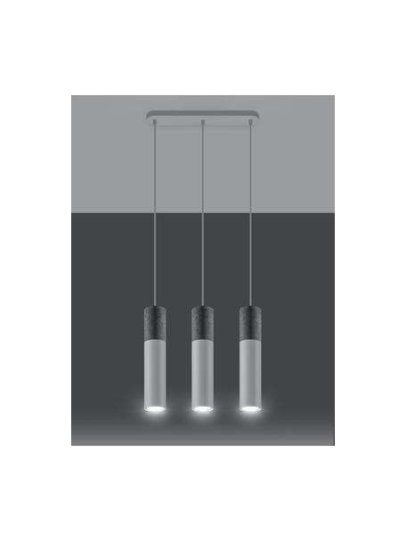 Lampa wisząca z betonu Edo, Szary, biały, Ø 6 x W 30 cm