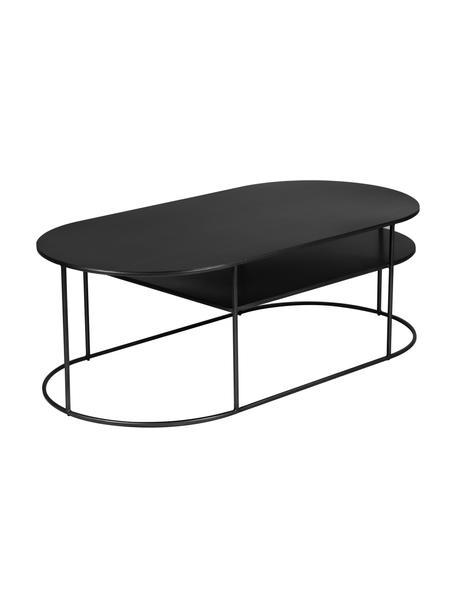 Metalen salontafel Grayson in zwart, Gecoat metaal, Zwart, 120 x 60 cm