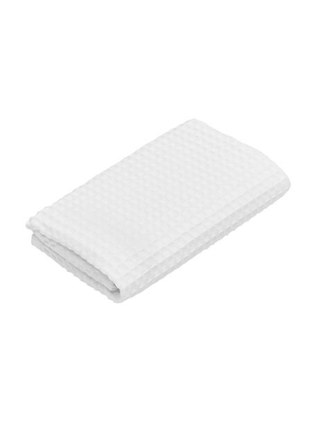 Leichtes Waffelpiqué-Handtuch Karima, verschiedene Größen, Weiß, Gästehandtuch