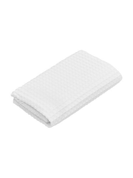 Lichte waffelpiqué handdoek Karima, verschillende formaten, Wit, Gastendoekje