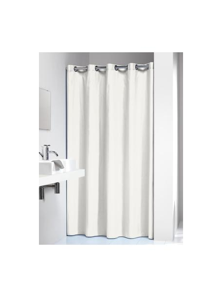 Cortina de baño Coloris, Ojales: metal, Blanco crudo, An 180 x L 200 cm