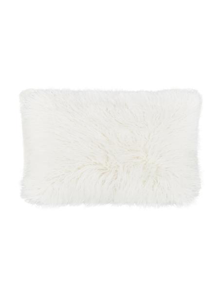 Zachte kussenhoes van imitatievacht Morten in crèmekleur, gekruld, Crèmekleurig, 30 x 50 cm