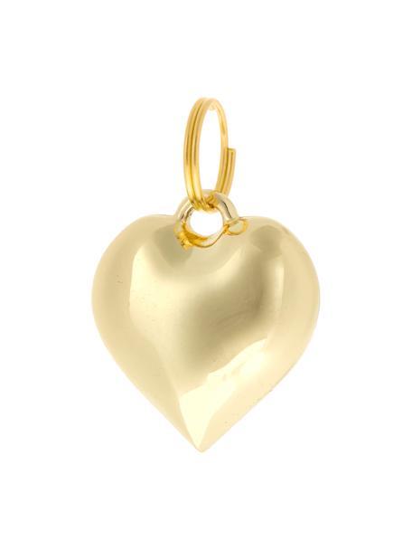 Llaveros Charm Heart, 6uds., Metal, Dorado, Ø 2 x Al 3 cm