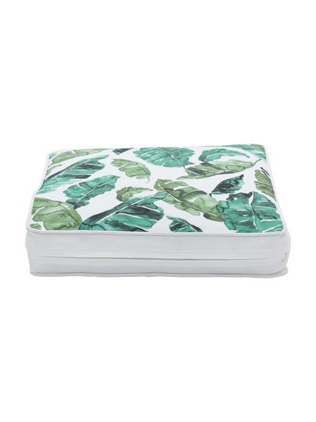 Stoelkussen Shade, Bekleding: 100% katoen, Groen, wit, 40 x 40 cm