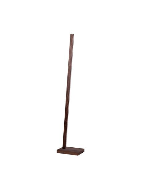 Lampada da terra a LED dimmerabile Linus, Paralume: legno di faggio, Base della lampada: legno di faggio, Marrone scuro, Larg. 20 x Alt. 150 cm