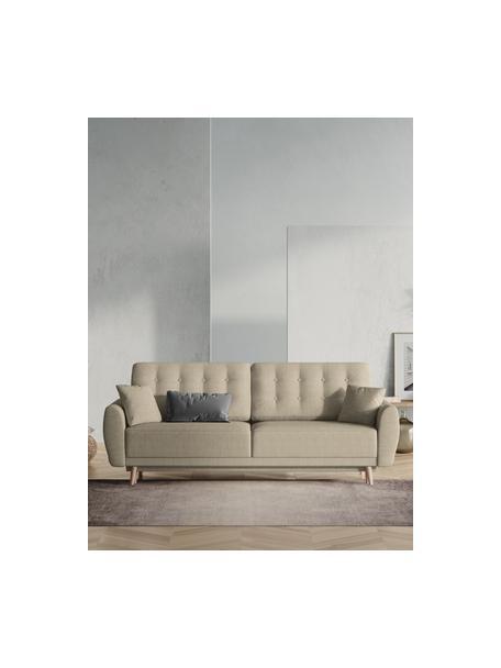Sofá cama Spinel (3plazas), Tapizado: poliéster Alta resistenci, Estructura: madera de pino maciza, ag, Patas: madera de abedul, Beige oscuro, An 236 x F 93 cm
