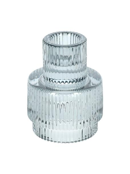 Kandelaar Danali in grijs, Glas, Transparant, grijs, Ø 7 x H 8 cm