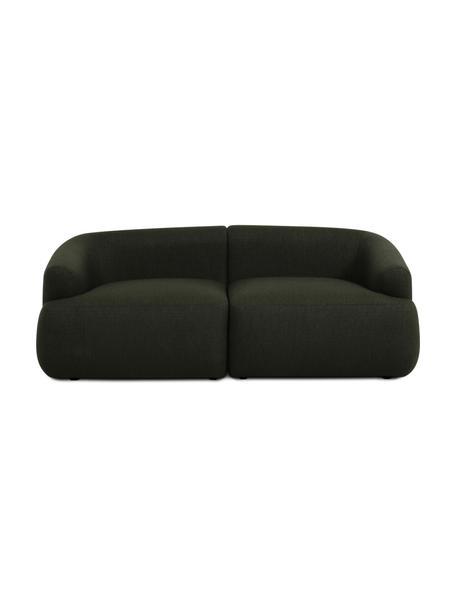 Modulares Sofa Sofia (2-Sitzer) in Grün, Bezug: 100% Polypropylen Der hoc, Gestell: Massives Kiefernholz, Spa, Grün, B 192 x T 95 cm