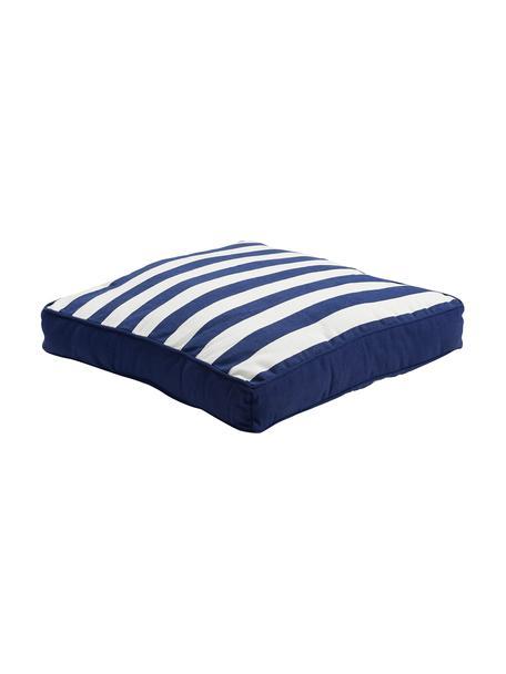 Cojín de asiento Mason, Funda: 100%algodón, Azul marino, blanco crema, An 40 x L 40 cm