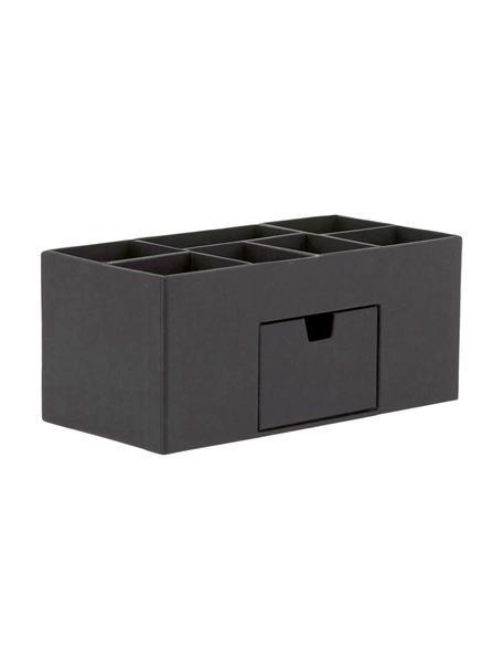 Organizador de escritorio Vendela, Cartón laminado macizo (100%papel reciclado), Negro, An 24 x Al 11 cm