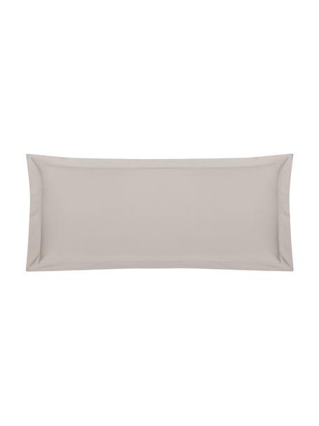 Funda de almohada de satén Premium, 45x110cm, Gris pardo, An 45 x L 110 cm