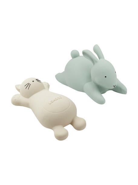 Komplet zabawek do kąpieli Vikky, 2 elem., Tworzywo sztuczne, Niebieski, beżowy, Komplet z różnymi rozmiarami