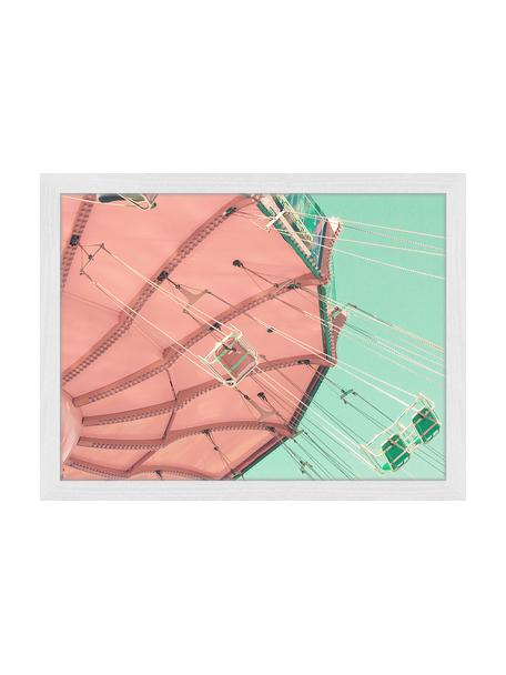 Ingelijste digitale print Carnival Fun, Afbeelding: digitale print op papier,, Lijst: gelakt hout, Multicolour, 43 x 33 cm