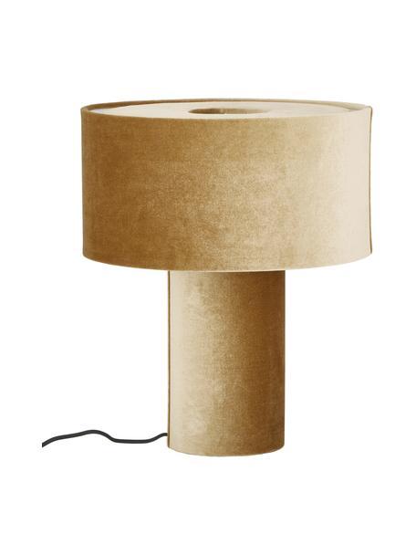 Lampa stołowa z aksamitu Frida, Musztardowy, Ø 30 x W 36 cm