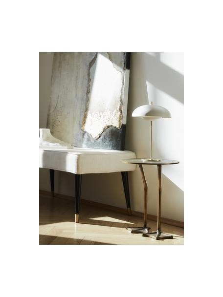 Tavolino decorativo in metallo Duck, Metallo ottonato e verniciato, Oro, Ø 35 x Alt. 45 cm