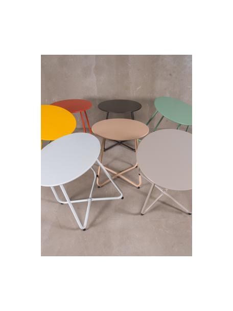 Tavolino da giardino in acciaio Luna, Acciaio epossidato, Beige, Ø 45 x Alt. 45 cm