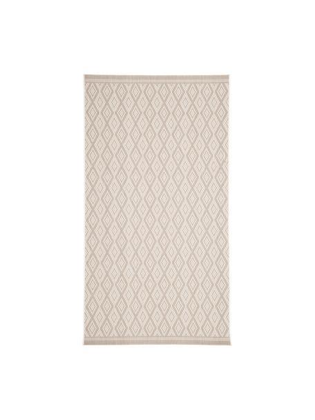Tappeto beige/crema da interno-esterno Capri, 86% polipropilene, 14% poliestere, Bianco crema, beige, Larg. 80 x Lung. 150 cm (taglia XS)