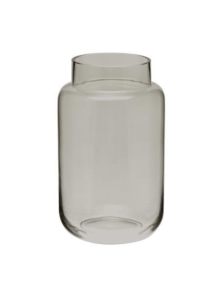 Glazen vaas Lasse, groot, Glas, Grijs, transparant, Ø 13 x H 22 cm