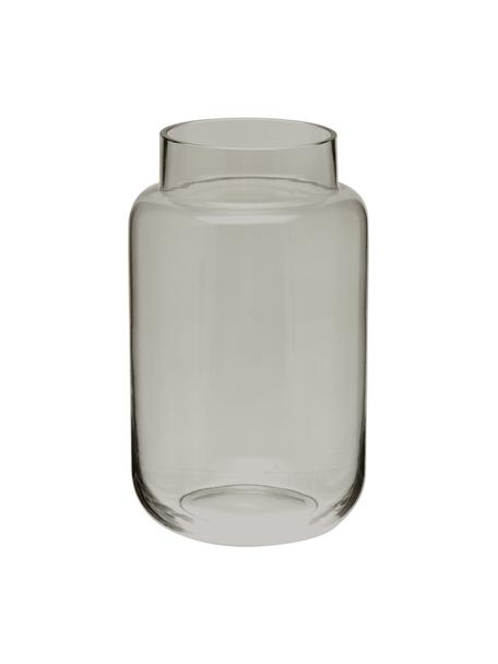 Jarrón grande de vidrio Lasse, Vidrio, Gris, transparente, Ø 13 x Al 22 cm