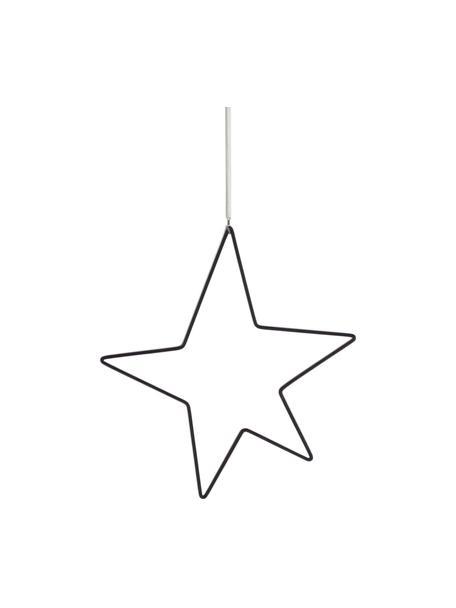 Adorno para colgar estrella Kelia, Negro, An 21 x Al 23 cm