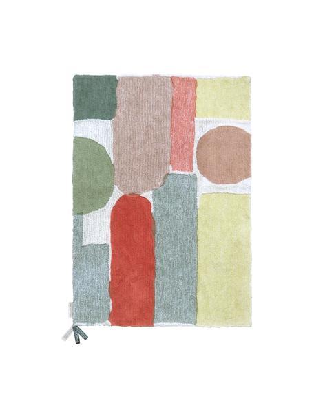 Tappeto in lana lavabile con motivo colorato Woolable Abstra, Retro: cotone riciclato, Multicolore, Larg. 170 x Lung. 240 cm (taglia M)