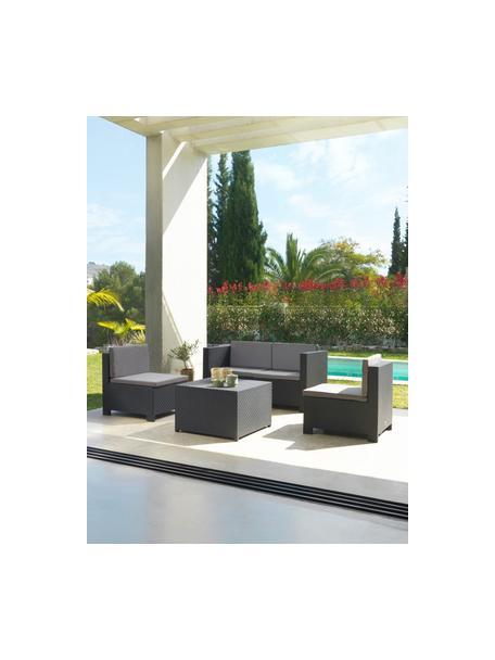 Set lounge para exterior modular Verona, 5pzas., Tapizado: 100%poliéster, Gris antracita, Set de diferentes tamaños