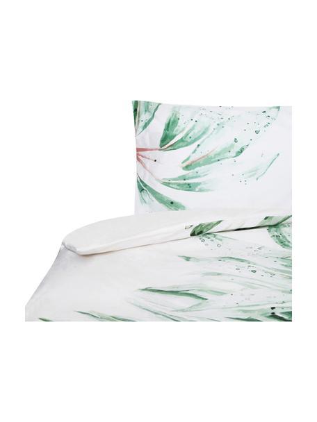 Funda nórdica Delicate, Algodón El algodón da una sensación agradable y suave en la piel, absorbe bien la humedad y es adecuado para personas alérgicas, Blanco, verde, rosa, Cama 90 cm (155 x 200 cm)