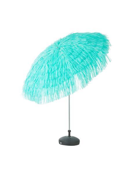 Turqouise parasol Hawaii met franjes, knikbaar, Ø 200 cm, Turquoise, Ø 200 x H 210 cm