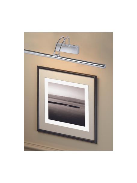 Applique a LED in cromo Picture, Lampada: acciaio cromato, Cromo, Larg. 68 x Alt. 12 cm