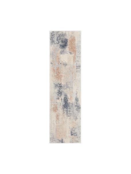 Design loper Rustic Textures II, Bovenzijde: 51%polypropyleen, 49%po, Onderzijde: 50%jute, 50%latex, Beigetinten, grijs, 70 x 230 cm