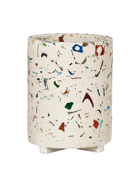Portalápices Razzo, Gres, Beige, multicolor, Ø 8 x Al 10 cm