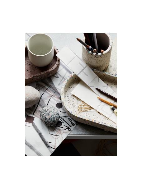 Stojak na długopisy Razzo, Kamionka, Beżowy, wielobarwny, Ø 8 x W 10 cm
