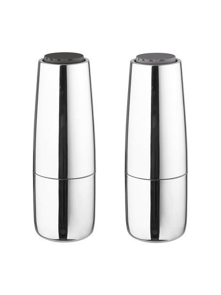 Salz- und Pfeffermühle Salpi in Silber, Deckel: Kunststoff, Mahlwerk: Keramik, Silberfarben, Ø 7 x H 20 cm
