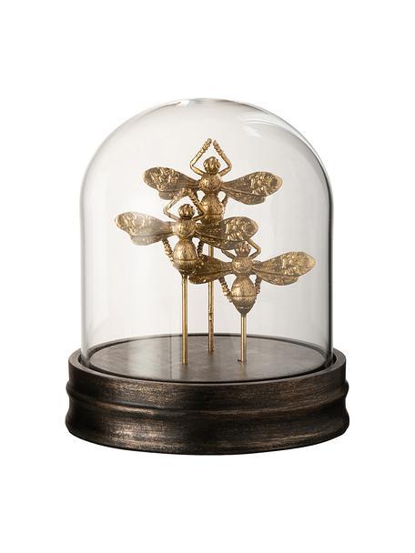 Figura decorativa Bumblebee, Urna: vidrio, Dorado, Ø 16 x Al 17 cm