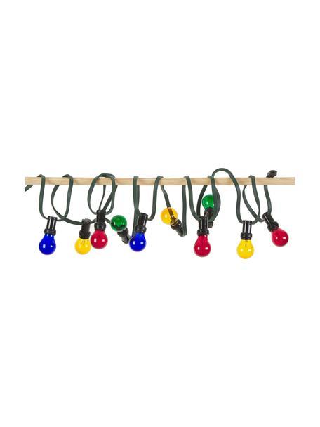 Outdoor LED lichtslinger Jubile, 620 cm, 10 lampions, Lampions: kunststof, Rood, blauw, groen, geel, L 620 cm